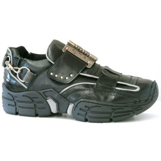 New Rock Boots 3110 Itali Negro Nomada Negro Ribete Reflectante Crash Negro Per