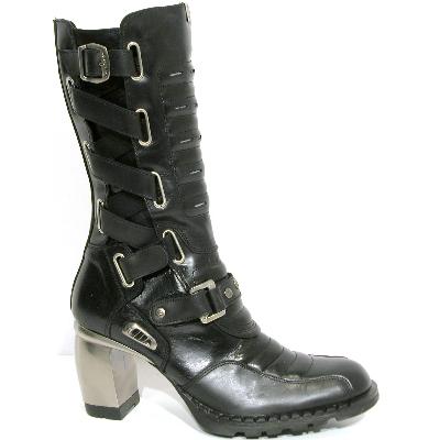 New Rock Boots 6002 Nomada Negro e Itali Negro, Formula Tacon Formula Acero