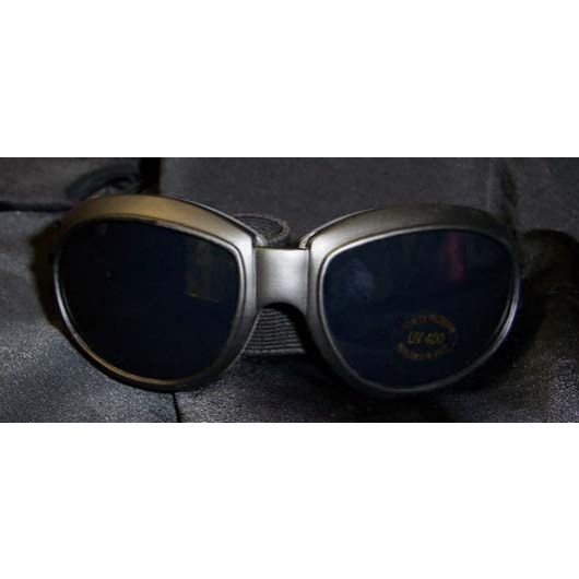 Large Black Frame Goggles - plain