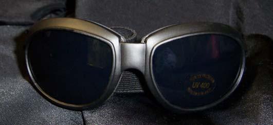 Large Black Frame Goggles - plain