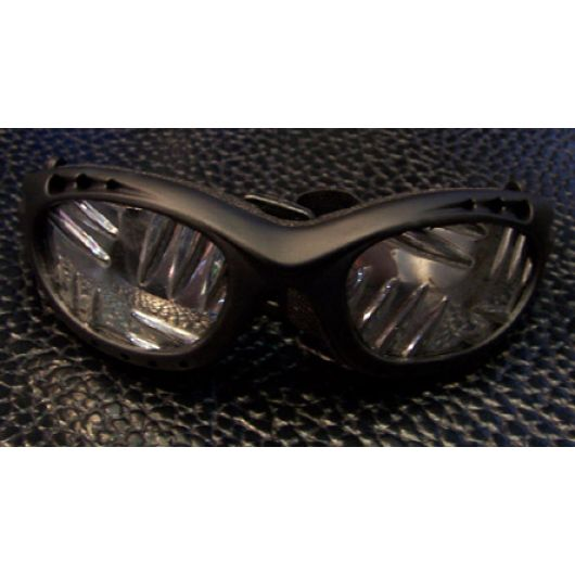 Tri-hole vent Goggles w/plate lenses