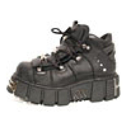 New Rock Boots 106 Itali Negro y Nomada Negro Tower Negro Acero