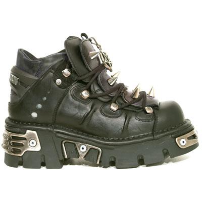 New Rock Boots 110-S1 Reactor Negro Toberas, Itali y Nomada Negro