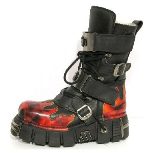 New Rock Boots 150 Itali Negro y Antic Fuego Tower Negro Acero