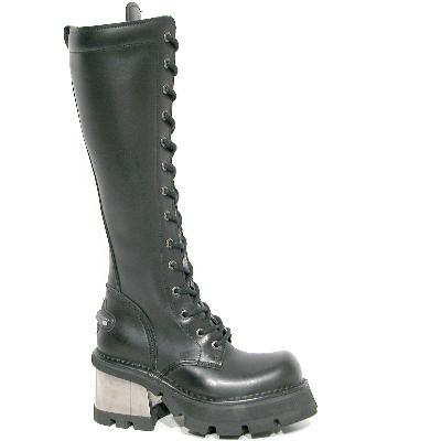 New Rock Boots 236 Planing Negro M8 Acero, Itali Negro