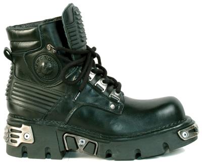 New Rock Boots 924 Itali Negro Reactor Negro Toberas