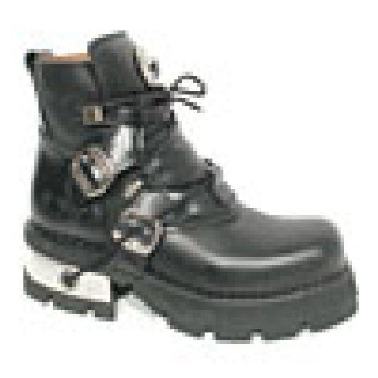 New Rock Boots 988 Itali Negro Reactor Negro Toberas