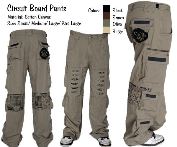 Random Mens Circuit Board Pants - BLACK