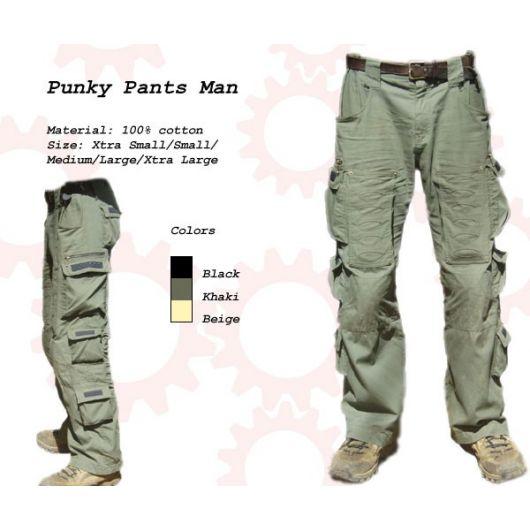 Random Mens Punky Pants - BLACK
