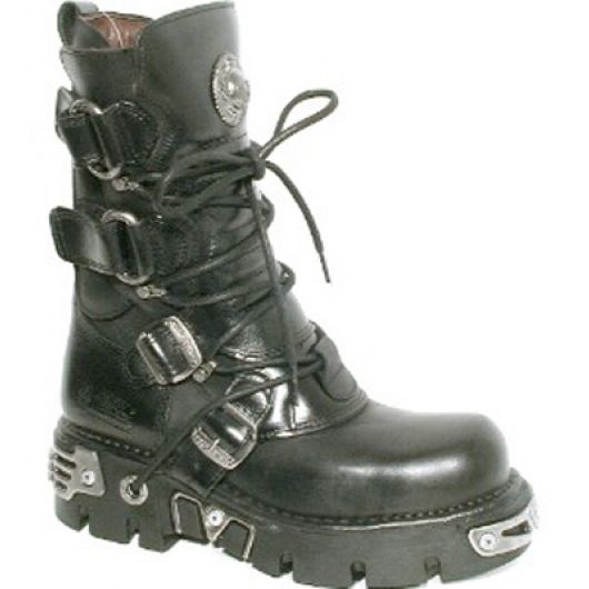New Rock Boots 575 Itali y Pulik Negro Reactor Negro Toberas