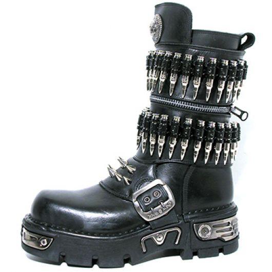 New Rock Boots 301-C1 Itali Negro New Reactor Negro Toberas