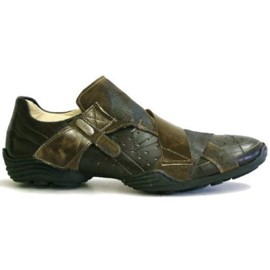 New Rock Boots 8133-S5 Cheyenne Moro Pulik Oro Ante Marron Abs Negro