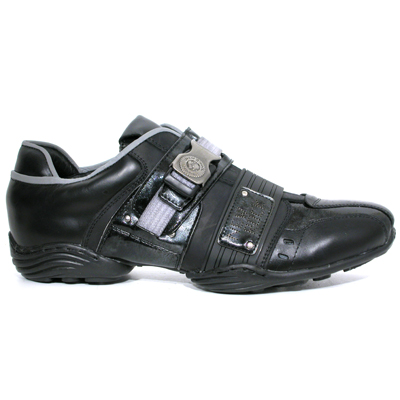 New Rock Boots 8147-S1 Abs negro, Nomada negro, Charol stuco acero, carbono negro.