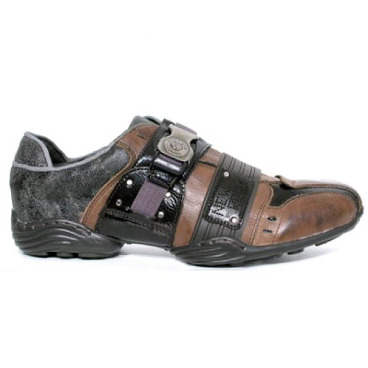 New Rock Boots 8147 S-2 Abs marron, Galia marron, charol stuco moro, atapuerca marron