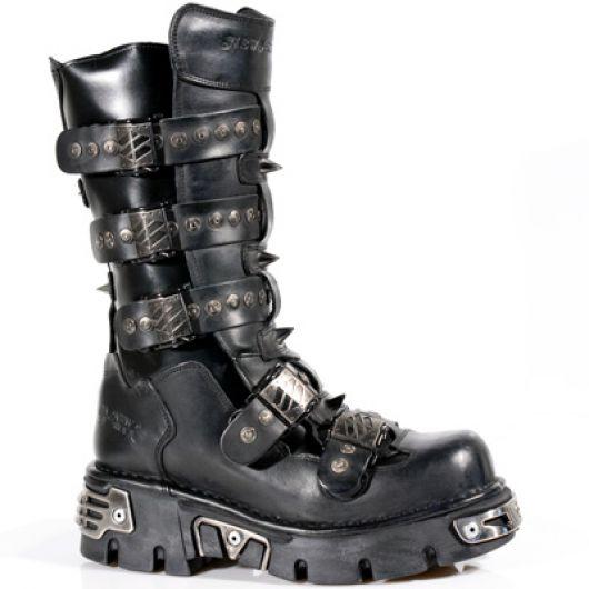 New Rock Boots 134 ITALI NEGRO, NOMADA NEGRO, REACTOR NEGRO TOBERAS