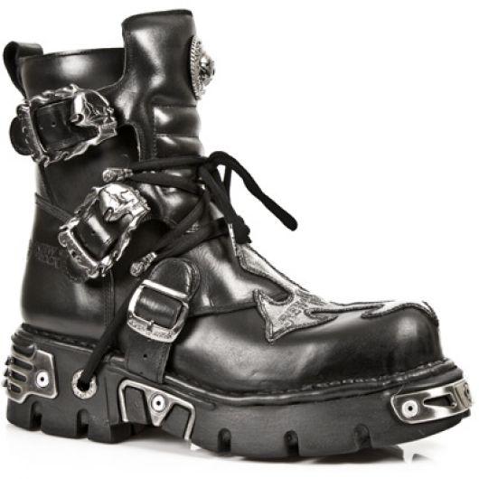 New Rock Boots 407 ITALI NEGRO, NOMADA NEGRO, BOX PLANE