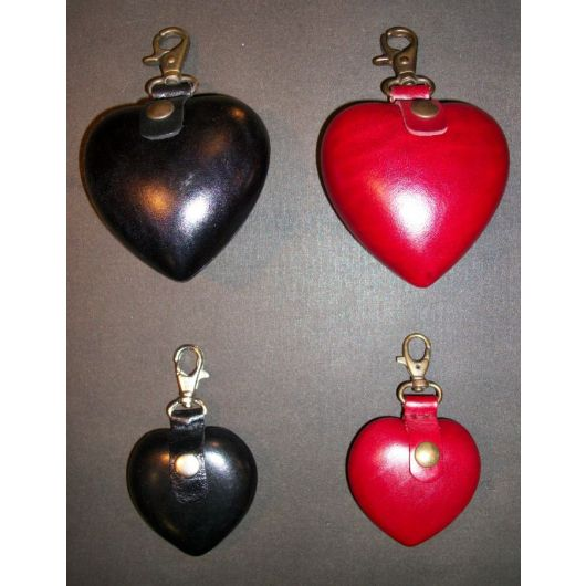 Heart Shaped Hard Leather Steampunk Coin Purse
