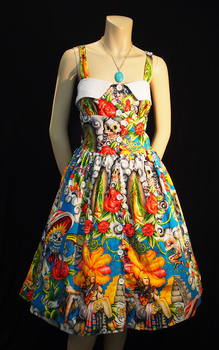 Rockabilly Maya Sky Rockabilly Dress
