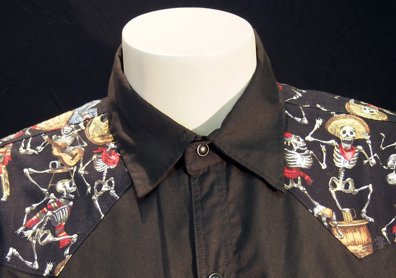Rockabilly Day of the Dead Mens Shirt