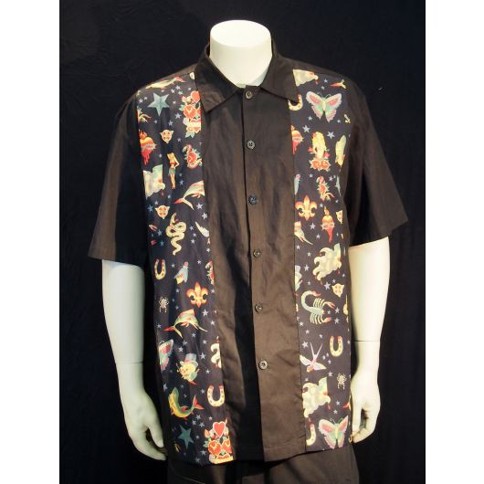 Rockabilly Mens Tattoo Flash Shirt